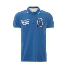 ESPRIT Regular Fit Poloshirt mit Stickereien in Blau   FASHION ID Online Shop