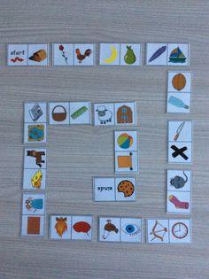 Rijmdomino; leuke oefening op het rijmen. Bron: www.jufshanna.nl *liestr*