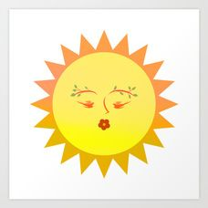 Lovely Sun Art Print