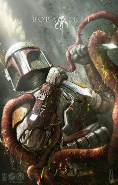 """Escape of Boba Fett"" by Shane Molina : StarWars Star Wars Fan Art, Star Wars Film, Star Wars Clone Wars, Star Wars Poster, Star Trek, Boba Fett Art, Star Wars Boba Fett, Jango Fett, Chasseur De Primes"
