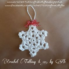 Fiocco di neve, decorazione a uncinetto : Accessori casa di crochet-tatting-and-co-by-ale