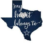 Dallas Cowboys My Heart Belongs State Sign