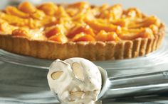 Apricot Tart with Roasted Almond Ice Cream | This tart is made of ...
