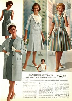 Seventies Fashion, 1960s Fashion, Vintage Fashion, Retro Outfits, Vintage Outfits, Kids Dress Patterns, Mad Men Fashion, Vintage 1950s Dresses, Vintage Couture