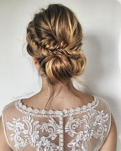 romantic updo wedding hairstyle,wedding hair ideas,bridal updo,loose braided updo hairstyles