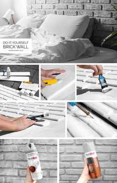 Nu fik jeg endelig taget mig sammen til at lave en DIY guide til min hjemmelavede murstensvæg ud af flamingo. Det er overraskende nemt, forholdvis billigt, det eneste man skal lægge i er masser af tid