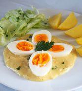 Eier in Senfsauce von manuela one Easy Healthy Recipes, Vegetarian Recipes, Sauces, Chicken Drumstick Recipes, Tasty Videos, Egg Recipes For Breakfast, Foods With Gluten, Diet Menu, Kids Meals