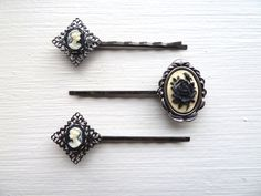Collection of 3 victorian bobby pins by Arthlin on Etsy, $13.50