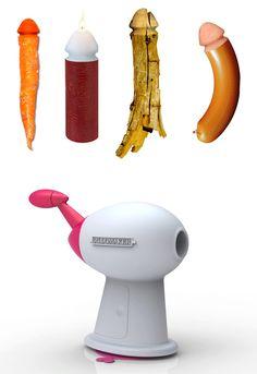 Dildo Maker by Francesco Morackini, inspired by the classic pencil sharpener. Sharpen a dildo end onto anything... Very weird...