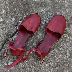 Image result for red flat leather sandals art