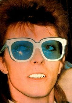 Emmanuelle Khanh sunglasses and David Bowie