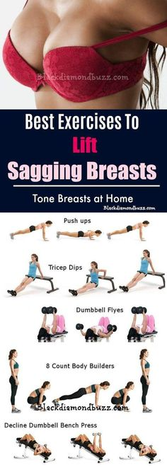 gym workout weight loss nutrition health and fitness Exercises to Lift Sagging Breasts and Tone Breast at home 1 Fitness Workouts, Sport Fitness, Fitness Diet, At Home Workouts, Health Fitness, Workout Exercises, Workout Routines, Tonifier Son Corps, Sixpack Workout