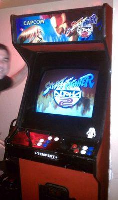 Street Fighter Alpha 2 arcade cabinet