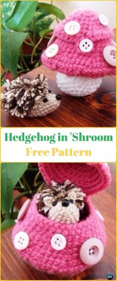 Amigurumi Sammy Hedgehog in 'Shroom Free Pattern - Crochet Hedgehog Free Patterns
