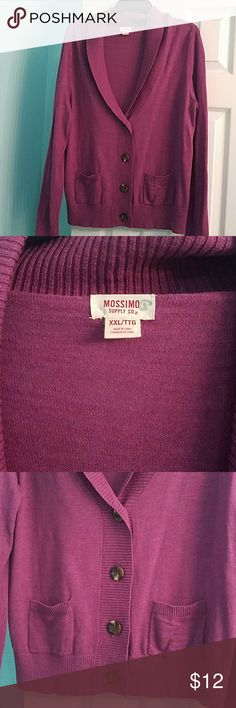 Ladies sweater Beautiful dark purple sweater! Adorable with jeans and boots! New without tags. Mossimo Supply Co. Sweaters Cardigans