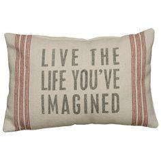 Live The Life Pillow I