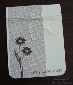 Simple Sympathy Card by Brenda Frerichs