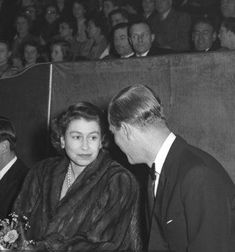 Queen Elizabeth II and the Duke of Edinburgh attending a gala performance of Bertram Mills Circus at Olympia, London. Queen Mary, Queen Elizabeth Ii, The Crown, British Royals, Olympia London, Royalty, In This Moment, Couple Photos, Edinburgh