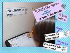 Write the Room {Winter Edition} ***differentiated*** simple & advanced sentences