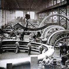 AEG Turbinenwerk,Turbinenfabrik in der Huttenstrasse Berlin-Moabit um 1900