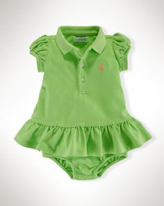 Ruffled Cotton Polo Dress - Baby Girl Dresses & Skirts - RalphLauren.com