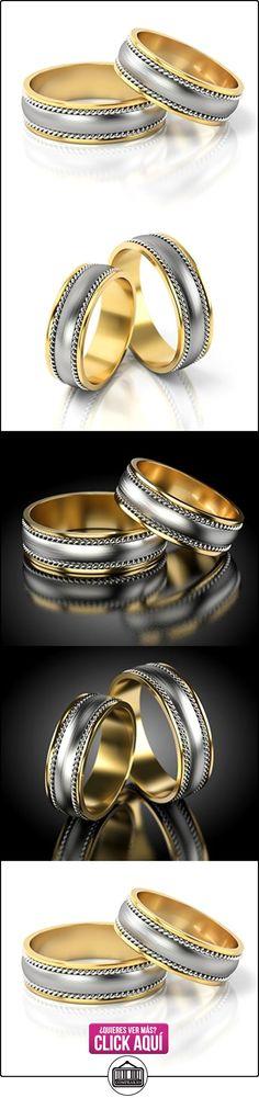 Anillos De Boda Oro Blanco / Oro amarillo 750_PD155_S-818  ✿ Joyas para hombres especiales - lujo ✿ ▬► Ver oferta: https://comprar.io/goto/B01DPQ6N38