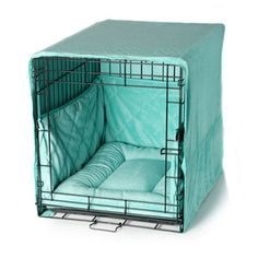 "Pet Dreams Plush Blue 24"" Dog Pet Puppy Wire Crate Training Cover Bed Bumper Pad"