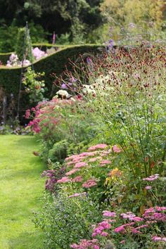 herbaceous border summer gresgarth hall cumbria