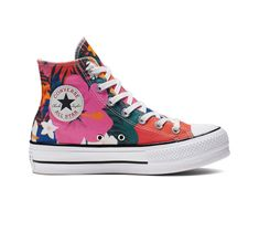 d368313659107 Chuck Taylor All Star Paradise Prints Lift High Top Converse Sneakers
