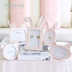 Miz Home Anna Series Cat Face Photo Frame Cute Smile Animal Face Resin Wooden for Baby Kid Picture Frames Desktop Frame ANN01001-in Frame from Home & Garden on Aliexpress.com | Alibaba Group