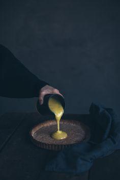 Glutenfree Lemon Tart with homemade Lemon Curd