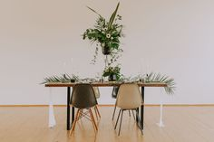 Industrial, Dining Table, Green, Furniture, Wedding, Home Decor, Style, Paper Mill, Tropical Wedding Decor