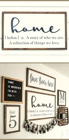 Home Sign - Home Definition Wood Sign - Farmhouse Sign - Wood Sign, Rustic sign, Rustic wall decor, Living room […] Rustic Curtains, Rustic Walls, Rustic Wall Decor, Rustic Farmhouse Decor, Farmhouse Signs, Rustic Signs, Farmhouse Style, Rustic Gallery Wall, Entryway Wall Decor