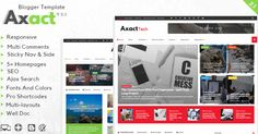 Axact Blogger template Download Free