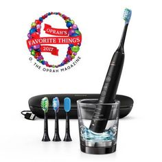 Philips Sonicare ($30 Rebate Available) DiamondClean Smart Electric 9500 Rechargeable toothbrush for Complete Oral Care, with Charging Travel Case, 5 modes, Black, HX9924/11