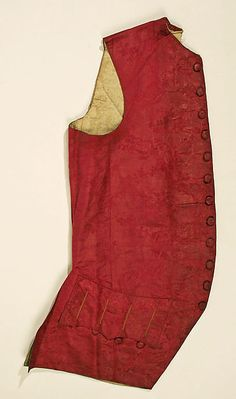 Vest Date: 1755–65 Culture: French Medium: silk Dimensions: [no dimensions available] Credit Line: Gift of Mr. Lee Simonson, 1939 Accession Number: C.I.39.13.137