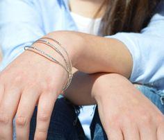 Thin Silver Bangle, Tree Bark Bangle. Thin Bangle, Stacking Bangles, Sterling Silver Bangle, silver bracelet, stacking bangle, silver bangle by Alaridesign