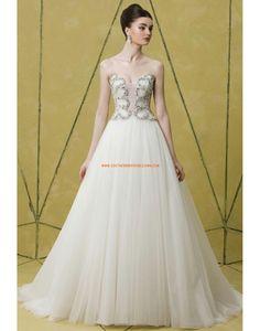 Tulle Brillant & Séduisant Naturel Robes de mariée 2014