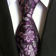 8 cm neck ties for men luxury silk mens necktie corbata black Gravata Jacquard Slim Tie Business paisley corbatas seda Mens Wedding Ties, Wedding Suit Styles, Wedding Suits, Formal Wedding, Party Wedding, Wedding Ideas, Dark Purple Flowers, Deep Purple, Suit Fashion