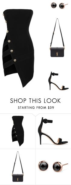 """""""Soho."""" by cmmpany ❤ liked on Polyvore featuring Anthony Vaccarello, Gianvito Rossi and Yves Saint Laurent"""