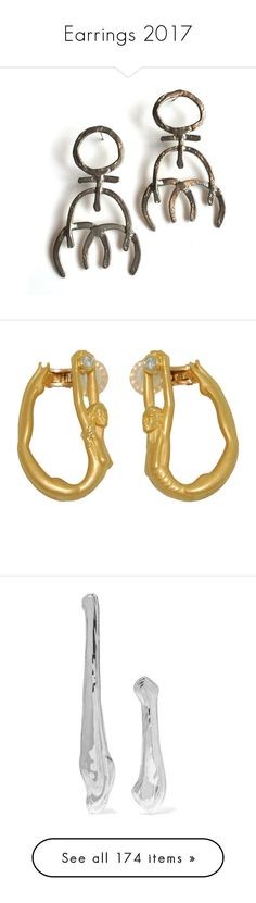 """Earrings 2017"" by fufuun ❤ liked on Polyvore featuring jewelry, earrings, fillers, earring jewelry, 18k gold jewelry, diamond hoop earrings, gold jewelry, 18k diamond earrings, post earrings and leigh miller jewelry"