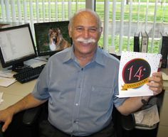 A big smile from Jerry Steinhart, Director of Collections, who has logged 14 years as a LLoyd staffer! Work Anniversary, Polo Ralph Lauren, Collections, Smile, Big, Mens Tops, Laughing