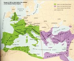 europe in 350. (before the collapse of the western roman empire)