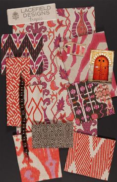 Lacefield Designs Tropic #Textile #MoodBoard - December 2012  #textiletrends  www.lacefielddesigns.com