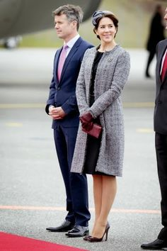 HRH Crown Prince Frederik & HRH Crown Princess Mary of Denmark. Turkish State Visit - Arrival, Day 1