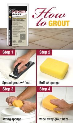 A step-by-step guide (with special tips and tricks) for grouting tile. Enjoy this free resource guide, complete a video walkthrough and detailed instructions for your next DIY tile installation projec (Diy Step Mobile Home) Home Improvement Projects, Home Projects, Ideas Baños, Tile Grout, Tile Flooring, Regrouting Tile, Flooring Types, Home Upgrades, Bricolage