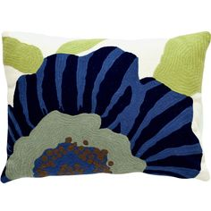 Pillows that pop with personality? Weve got em, like this cheery number in shades of indigo, violet, grass, and sage.