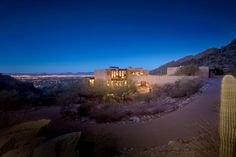 Tucked in the foothills of the Santa Catalina Mountains, this stunning contemporary home boasts sweeping views across its 93 secluded acres. The property is five minutes from the world renown Ventana Canyon Resort and Country Club in Tucson, AZ.