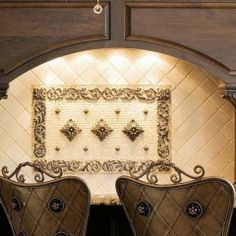 Fleur De Lis Mosaic Tile Medallion From Linda Paul Studio Mediterranean Kitchen Ideas Pinterest Tiles