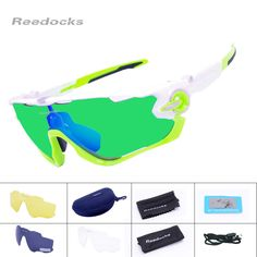 62c73bd780d1 Reedocks 4 Lens Brand NEW Polarized Cycling Sunglasses Mountain Bike  Quality Sports Eyewear Road Bicycle Running Cycling Glasses-in Cycling  Eyewear from ...
